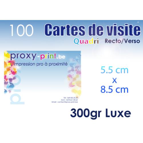 100 Cartes de visite