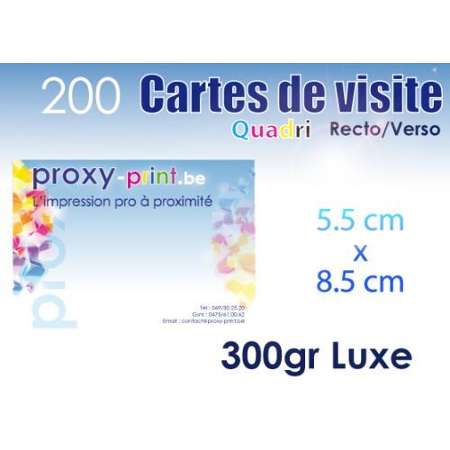 200 Cartes de visite
