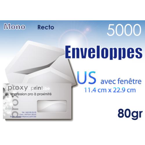5000 Enveloppes US