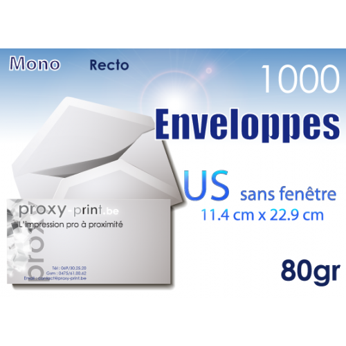 1000 Enveloppes US