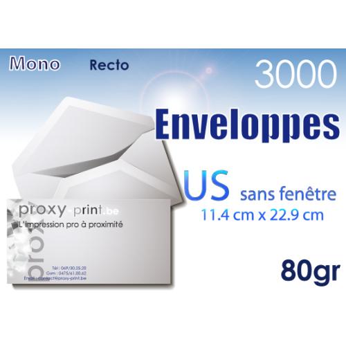 3000 Enveloppes US