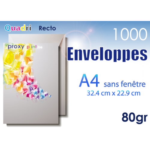 1000 Enveloppes A4