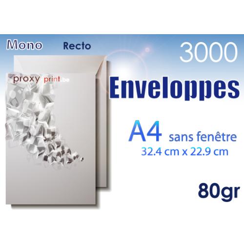 3000 Enveloppes A4