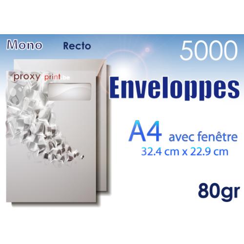 5000 Enveloppes A4