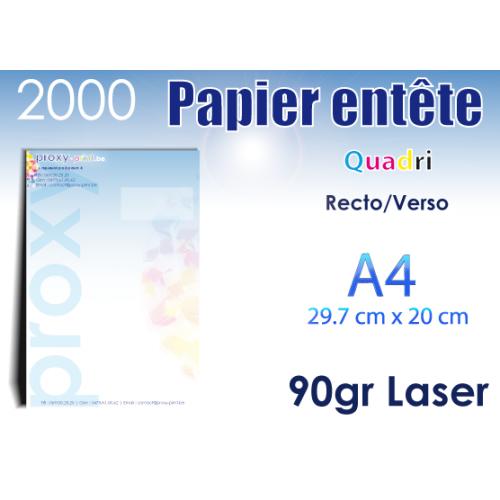 2000 Papiers entêtes