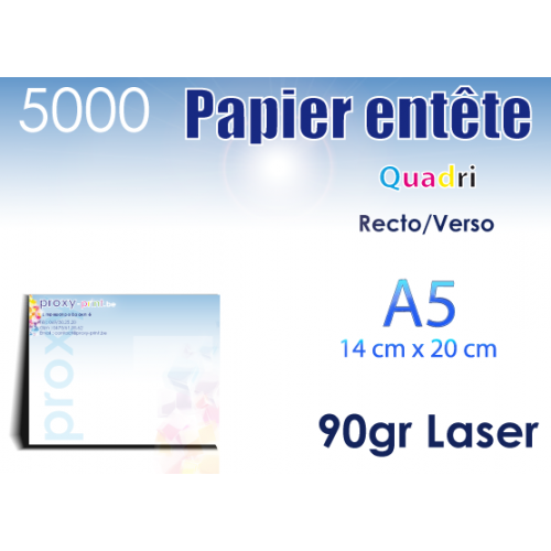 5000 Papiers entêtes