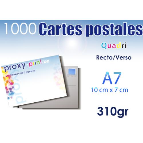 1000 Cartes postales - 310 Gr