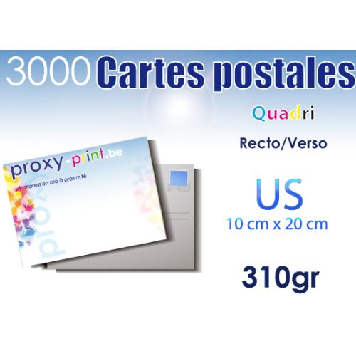 3000 Cartes postales - 310 Gr